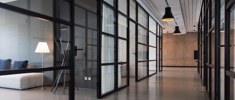 image of modern office hallway