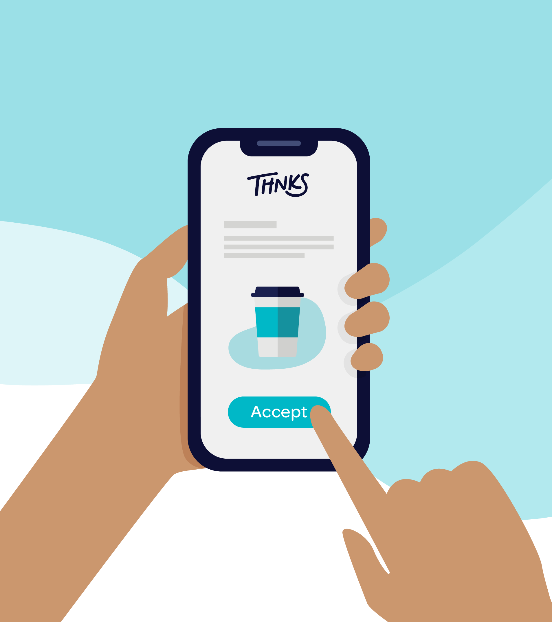 illustration of Thnks app